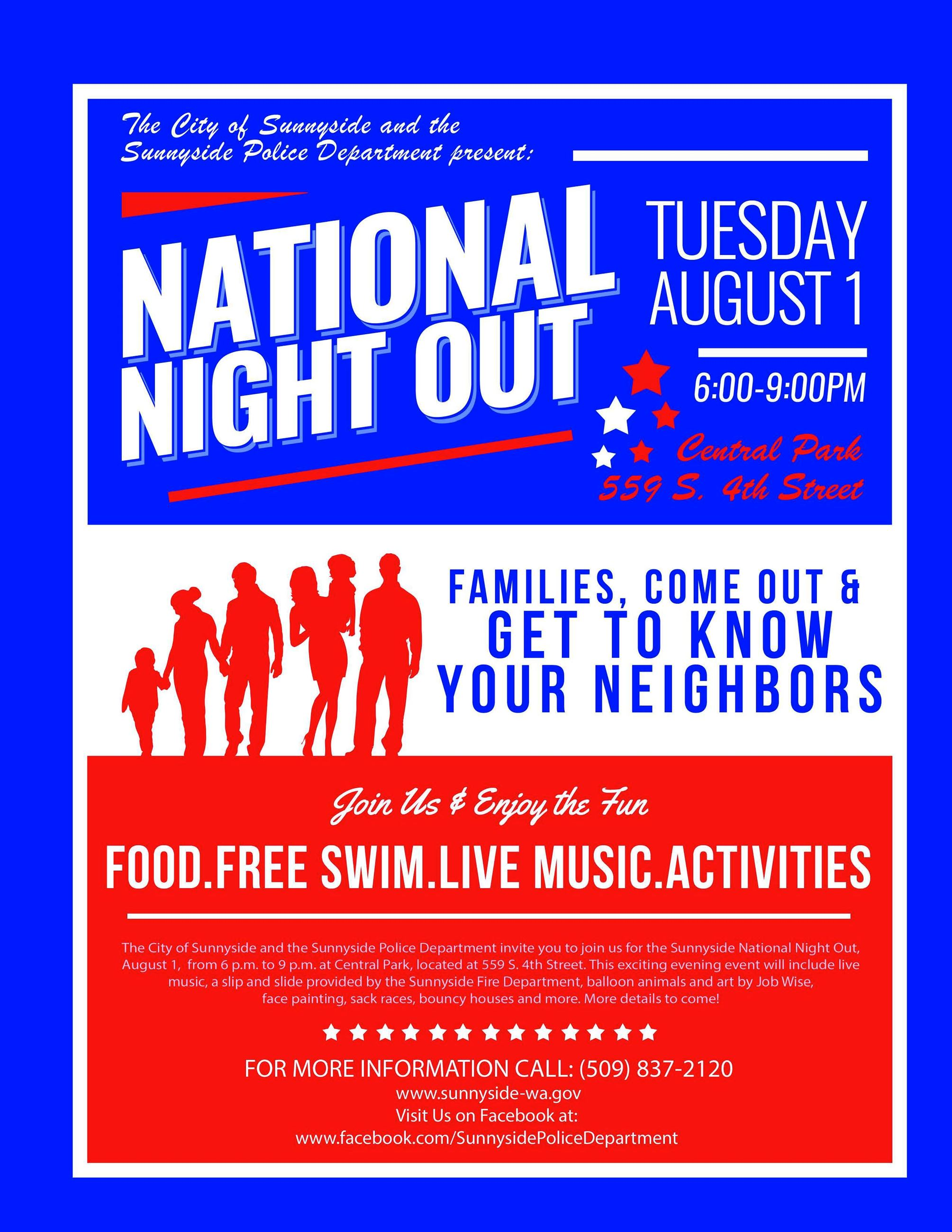 National Night Out Flyer 2017